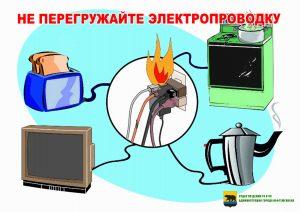 Не перегружайте электропроводку